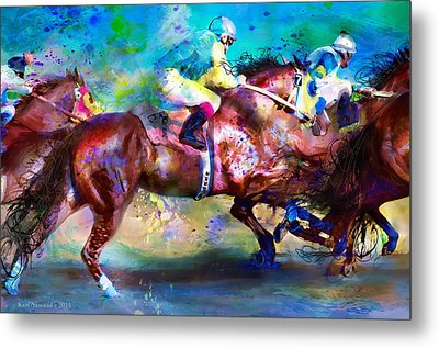 Quarter Racing Blues Metal Print