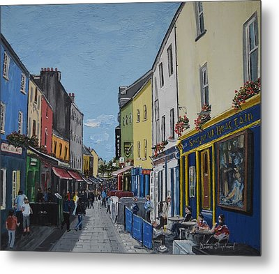 Quay St Galway Ireland Metal Print