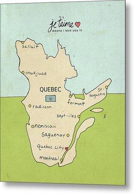 Quebec Metal Print by Lisa Barbero