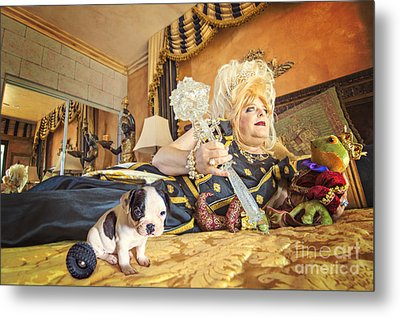 Queen And The Frog Metal Print by Danilo Piccioni