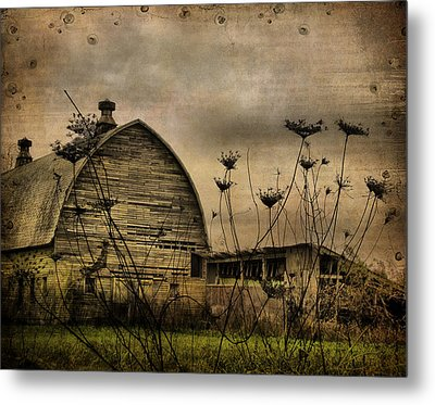 Queen Anne's View Barn Collage Metal Print by Gothicrow Images