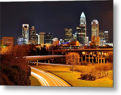 Queen City At Night Metal Print by Chris Gonyar