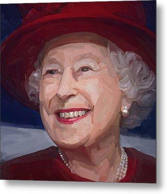 Queen Elizabeth II Metal Print
