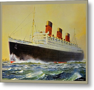 Queen Mary Postcard Metal Print