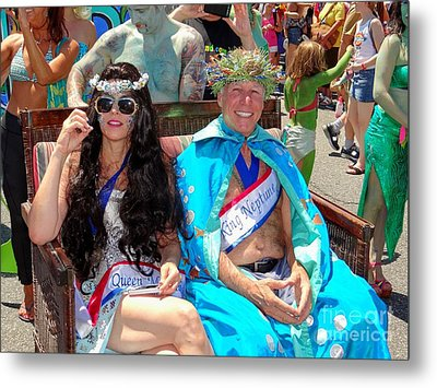 Metal Print featuring the photograph Queen Mermaid-king Neptune by Ed Weidman