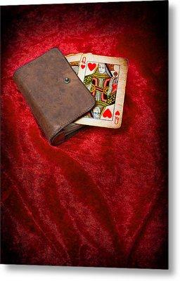 Queen Of Hearts Metal Print by Amanda Elwell