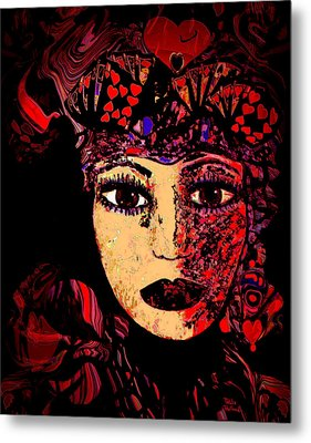 Queen Of Hearts Metal Print by Natalie Holland