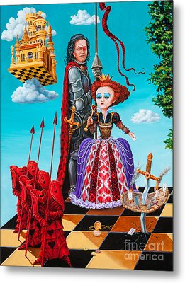 Metal Print featuring the painting Queen Of Hearts. Part 1 by Igor Postash