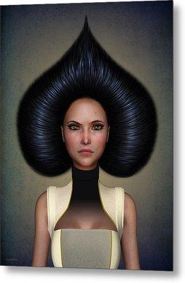 Queen Of Spades Metal Print by Britta Glodde