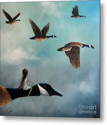 Queen Of The Canada Geese By Shawna Erback Metal Print