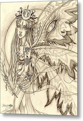 Queen Rhiannon Metal Print by Coriander  Shea