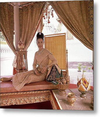 Queen Sirikit At The Grand Palace Metal Print