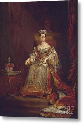 Queen Victoria Metal Print by Sir George Hayter