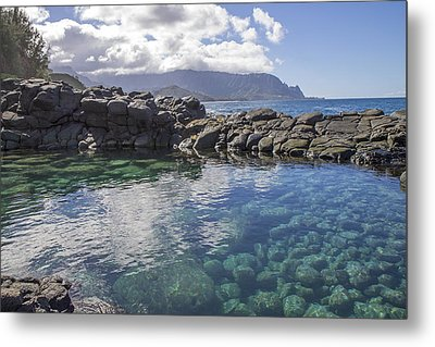 Queen's Bath Tide Pool Metal Print