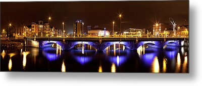 Queens Bridge Taken From The Queen Metal Print by Panoramic Images