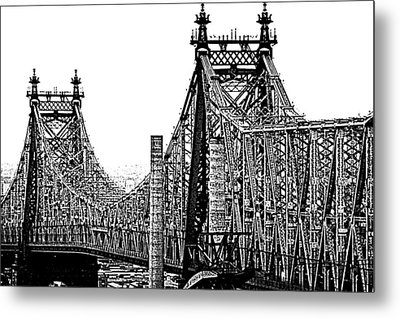 Queensborough Or 59th Street Bridge Metal Print by Steve Archbold