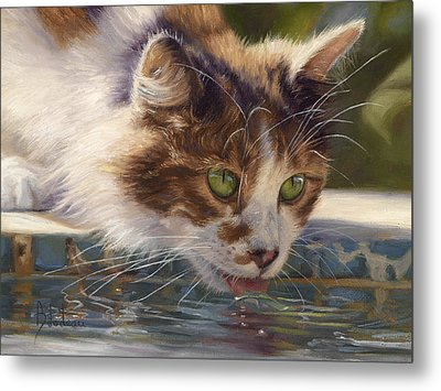 Quenching Her Thirst Metal Print by Lucie Bilodeau