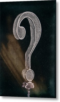 Question Mark Metal Print