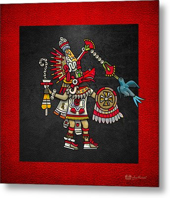 Quetzalcoatl In Human Warrior Form - Codex Magliabechiano Metal Print by Serge Averbukh