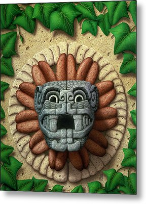 Metal Print featuring the painting Quetzalcoatl by WB Johnston