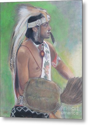 Wampanoag Dancer Metal Print by Terri Ana Stokes