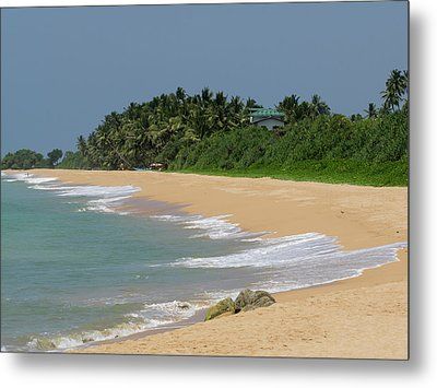Quiet Beach Along A2 Road, Bentota Metal Print by Panoramic Images