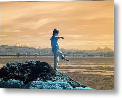 Metal Print featuring the photograph Quiet Beach by Rebecca Parker