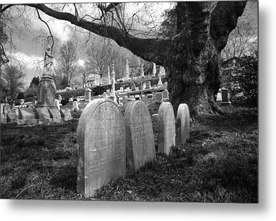 Quiet Cemetery Metal Print by Jennifer Ancker