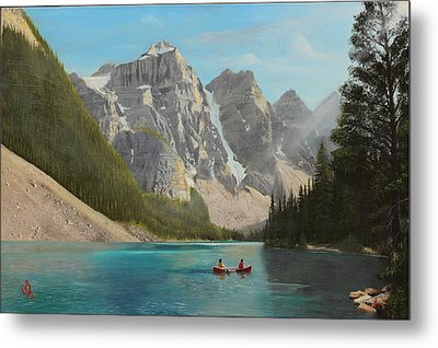 Metal Print featuring the painting Quiet Day by Glenn Beasley
