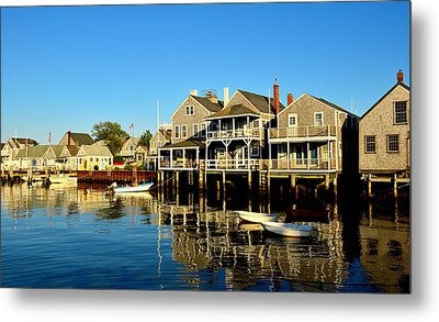 Quiet Harbor Metal Print