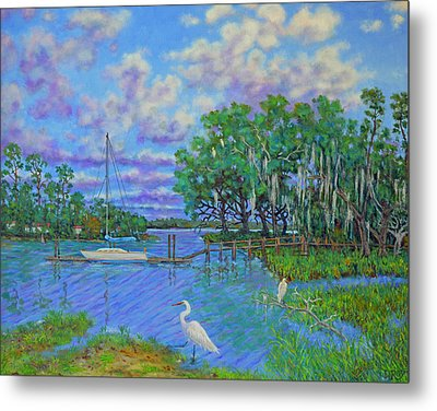 Quiet Low Country Lagoon Metal Print by Dwain Ray