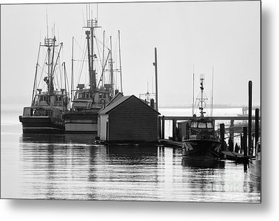 Quiet Mooring Metal Print by Bob Christopher