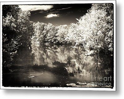 Quiet On The Pond Metal Print by John Rizzuto