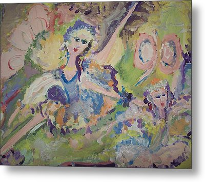 Quiet Time Fairies Metal Print by Judith Desrosiers