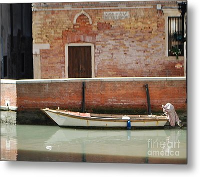 Quiet Venice Metal Print by William Wyckoff