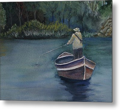 Metal Print featuring the painting Quietude by Jan Cipolla