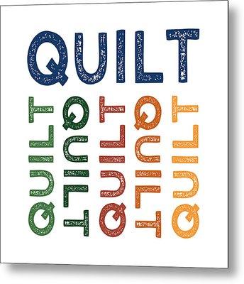 Quilt Cute Colorful Metal Print by Flo Karp