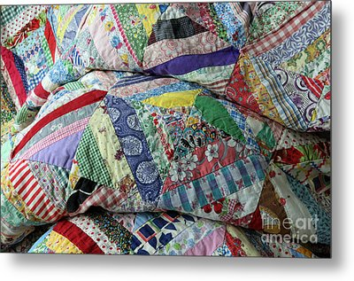 Quilt Of Many Colors Metal Print