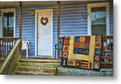 Quilt On The Front Porch Metal Print