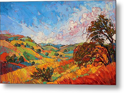 Quilted Color Metal Print by Erin Hanson