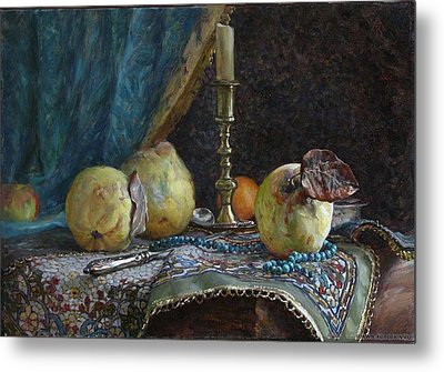 Quince Metal Print by Korobkin Anatoly