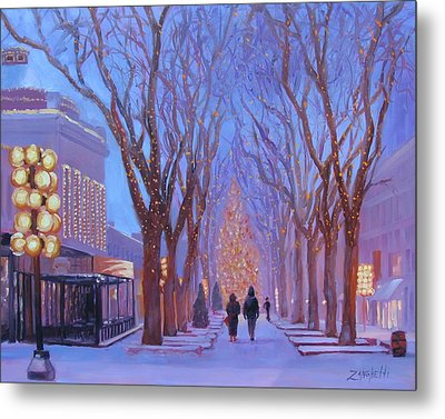 Quincy Market At Twilight Metal Print