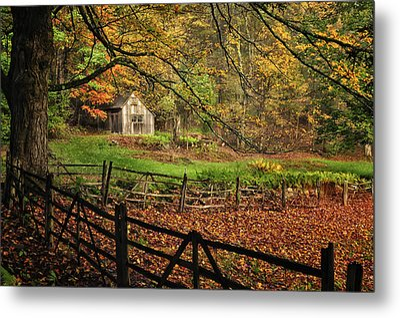 Rustic Shack- New England Autumn  Metal Print