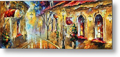 Quite Morning Metal Print by Leonid Afremov