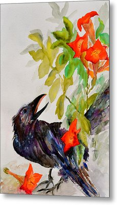 Quoi Metal Print by Beverley Harper Tinsley