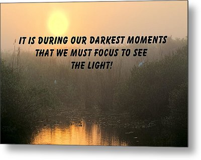 Quote On Sunrise-1 Metal Print by Rudy Umans