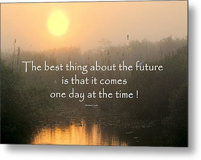 Quote On Sunrise-2 Metal Print by Rudy Umans