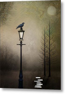 Quote The Raven Metal Print