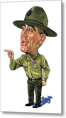 R. Lee Ermey As Gunnery Sergeant Hartman Metal Print by Art