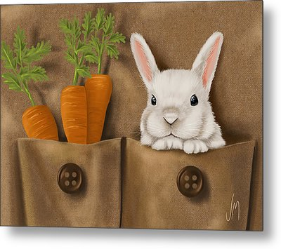 Rabbit Hole Metal Print by Veronica Minozzi